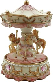 Musical Carousel - 3 Horses and Roses - Traditional - Online Toys ...