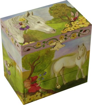 Fairy Horse Musical Jewellery Box