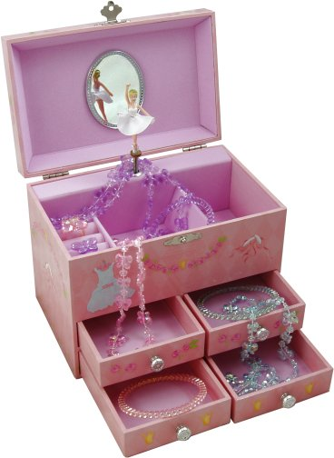 Magical music boxes for Girls large jewelry box