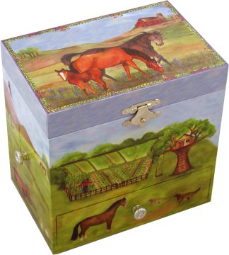Horse Ranch Enchantmints Music Box from Magical Music Boxes UK