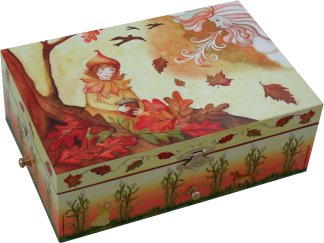 Enchantmints The Four Seasons Autumn Falling Leaves Music Box from