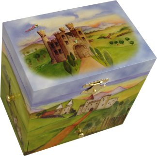 Enchanted Castle Musical Jewellery Box