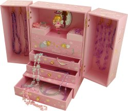 Princess Musical Jewellery Cabinet from Magical Music Boxes UK ...