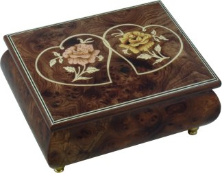 Inlaid Musical Jewellery Box