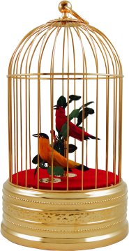 Gold Plated Finish Singing Bird Cage